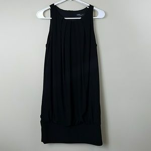 ABS Collection Black Pleated Tank Dress
